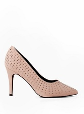 Womens Nude 'Glare' Embellished Court Shoes- Cream, Cream