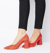 Office Mission Split Upper Court Shoe RED SUEDE