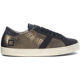 Date  Army green leather low-top Sneakers with honeycomb print.  women's Shoes (Trainers) in Green