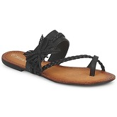 Moony Mood  LILIANA  women's Flip flops / Sandals (Shoes) in Black