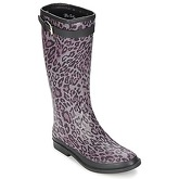 Be Only  CAVALIERE REPTILIUM  women's Wellington Boots in Purple