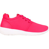 Krisp  Lurex Plain Running Trainers {Pink }  women's Shoes (Trainers) in Pink