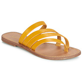 LPB Shoes  ROXANNE  women's Flip flops / Sandals (Shoes) in Yellow