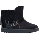 Krisp  Tassel   Buckle Cuff Snug Boots [Black ]  women's Snow boots in Black