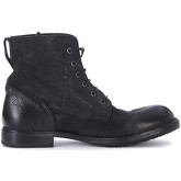 Moma  black vintage leather ankle boots  men's Mid Boots in Black