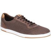 Base London  Hustle Mesh Lace Up Trainer  men's Shoes (Trainers) in Brown