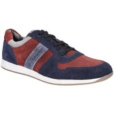 Base London  Eclipse Suede Lace Up Trainer  men's Shoes (Trainers) in Blue
