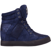 Krisp  Glitter Panel Wedge Trainers {Navy }  women's Shoes (High-top Trainers) in Blue