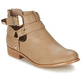 Moony Mood  BEZAH  women's Mid Boots in Beige