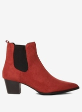 Womens Rust 'Mayfair' Ankle Boots- Red, Red