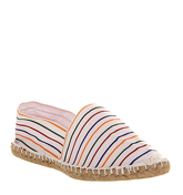 Office Solemate Espadrille WHITE MULTI STRIPE