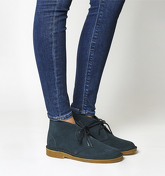Clarks Originals Desert Boot NAVY SUEDE NATURAL SOLE