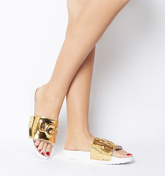 UGG Royale Graphic Metallic Slide GOLD