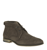 Office Impact Brogue Boot BROWN SUEDE