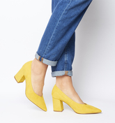 Office Mama Point Court With Chunky Heel YELLOW