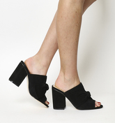 Office Heather Bow Mule BLACK SUEDE
