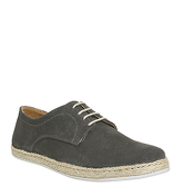 Ask the Missus Fiesta Lace Up Espadrille GREY SUEDE