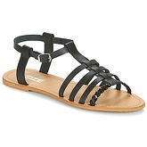 So Size  MILAGRO  women's Sandals in Black