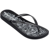 Ipanema  Nature Flip Flops in Black Flowers Print 81926  women's Flip flops / Sandals (Shoes) in Black