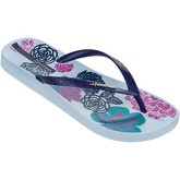Ipanema  Petal V Flip Flops in Blue Navy Flowers Print 81924  women's Flip flops / Sandals (Shoes) in Blue