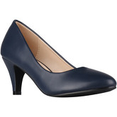 Krisp  Classic Kitten Heel Courts  women's Court Shoes in Blue