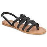 So Size  LINDA  women's Sandals in Black