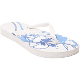 Zonkepai   Sunshine  Flip-flops HIBISCUS White / Blue Woman Spring/Summer Collection  women's Flip flops / Sandals (Shoes) in White