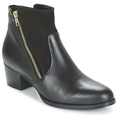 So Size  JOPESE  women's Low Ankle Boots in Black