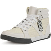 Reservoir Shoes  Hi-top lace-up sneakers RUBEN White Man Perm  women's Shoes (High-top Trainers) in White