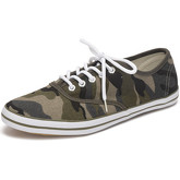 Reservoir Shoes  Solid low sneakers 09M1034 TINO Khaki Unisex Perm  women's Shoes (Trainers) in Green