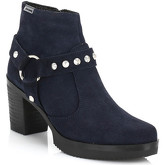 4ever Young  Womens Navy Beyonce Suede Boots  men's Low Ankle Boots in Blue