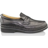 Calzamedi  comfortable leather moccasin  men's Loafers / Casual Shoes in Black