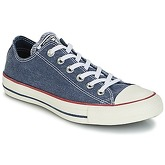 Converse  Chuck Taylor All Star Ox Stone Wash  men's Shoes (Trainers) in Blue