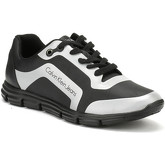 Calvin Klein Jeans  Mens Black / Silver Morris Trainers  men's Shoes (Trainers) in Black