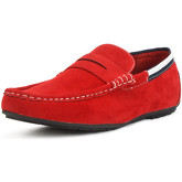 Reservoir Shoes  Moccasin with square toe MAXOU Red Man Perm  men's Loafers / Casual Shoes in Red