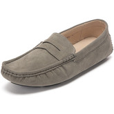 Reservoir Shoes  Moccasins suede look to put on M3075-E RAUL Grey Man Perm  men's Loafers / Casual Shoes in Grey