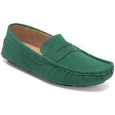 Reservoir Shoes  Moccasins suede look to put on M3075-X RAUL Green Man Perm  men's Loafers / Casual Shoes in Green