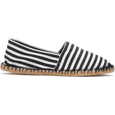 Reservoir Shoes  Printed espadrilles ESPA BL13/27 Rayee Black / White Unisex Per  men's Espadrilles / Casual Shoes in Black
