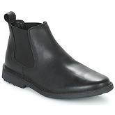 Jack   Jones  LEO LEATHER CHELSEA LTD  men's Mid Boots in Black