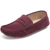 Reservoir Shoes  Moccasins suede look to put on M3075-Y RAUL Burgundy Man Perm  men's Loafers / Casual Shoes in Red