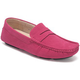 Reservoir Shoes  Moccasins suede look to put on M3075-Z RAUL Fuchsia Man Perm  men's Loafers / Casual Shoes in Pink