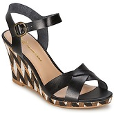 Chocolate Schubar  EBONY  women's Sandals in Black