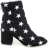 London Rag  Women's Star Print Zipper Ankle Boots  women's Low Ankle Boots in Black