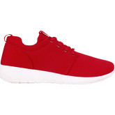 Krisp  Lurex Plain Running Trainers {Red }  women's Shoes (Trainers) in Red