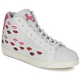 American College  KISS KISS  women's Shoes (High-top Trainers) in White
