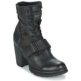 Bunker  ACE STRAP  women's Low Ankle Boots in Black