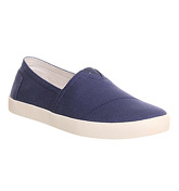 Toms Avalon Cupsole NAVY CANVAS