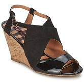 Chocolate Schubar  ELVINA  women's Sandals in Black
