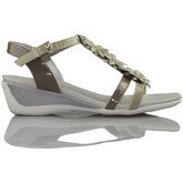 CallagHan  Patent leather sandal flower  women's Sandals in Beige