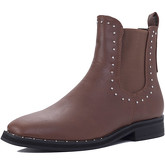 Spylovebuy  ALANI Flat Chelsea Ankle Boots - Tan Leather Style  women's Mid Boots in Brown